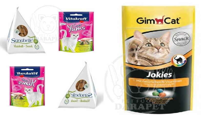 دسته بندی انواع غذا تشویقی بچه گربه