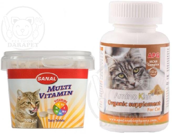 فروشنده انواع مکمل دارویی و غذای گربه