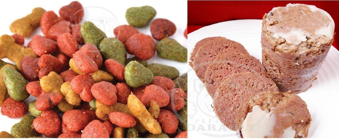 توزیع انواع غذای سگ خانگی