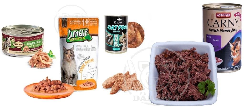 عرضه انواع کنسرو غذا گربه