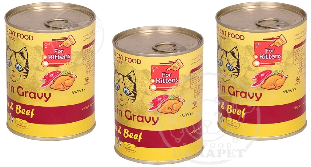 پخش عمده کنسرو غذای بچه گربه