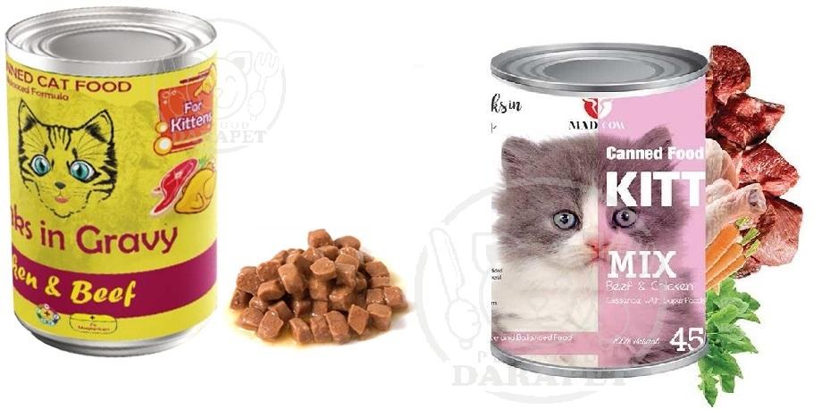 عرضه انواع غذای مناسب برای بچه گربه 6 ماهه