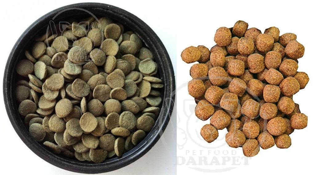 توزیع انواع غذا ماهی اکسترود شده