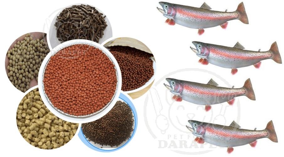 خرید انواع غذای ماهی قزل الا